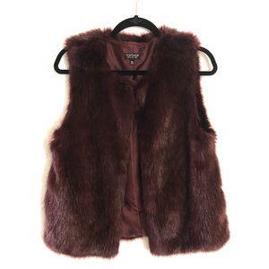 NWOT - Topshop Faux Fur Vest